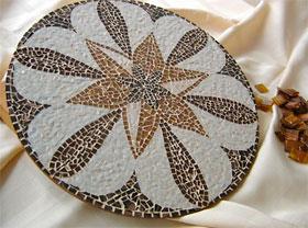 Tampo de mesa em mosaico Fran Mosaicos