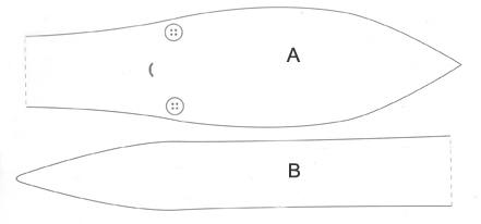 Molde da base do corpo do bichinho
