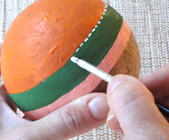 Pinte linhas de pesponto nas emendas das tiras
