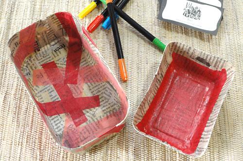 Embalagens plásticas recicladas em organizadores de gavetas