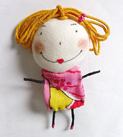 Betilda, boneca de tecido para presentear
