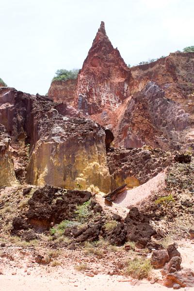 Castelo da Princesa, formação do Canyon de Coqueirinho