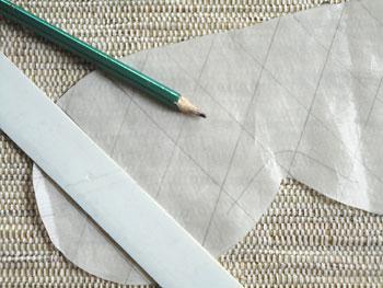 Marque as linhas do quilt no forro