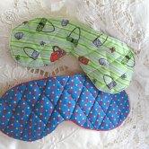 Máscaras de dormir em tecido quiltadas