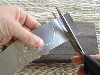 Corte as sobras das extremidades
