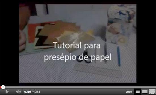 Como preparar a caixa para o presépio de papel