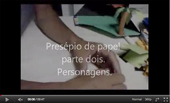 Como fazer os personagens do presépio de papel
