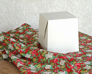 Precisamos de apenas um tecido quadrado para esse furoshiki