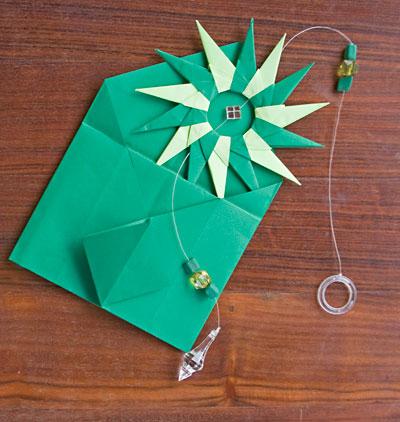 Lembrancinha e presente dentro de envelope de origami