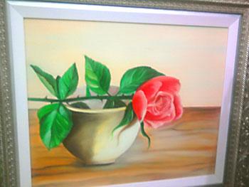 Tela pintada em estilo bem tradicional