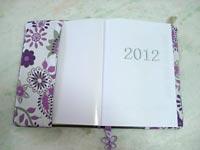 Detalhe da capa de agenda 2012