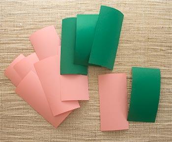 Prepare retângulos de papel