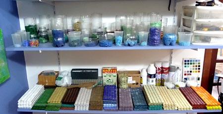 Mantenha seu material de mosaico bem organizado