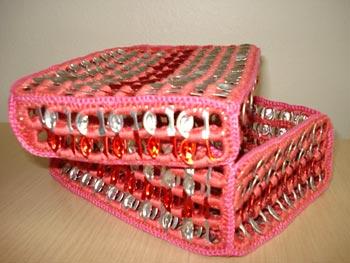 Reciclagem de lacres com uso do crochê