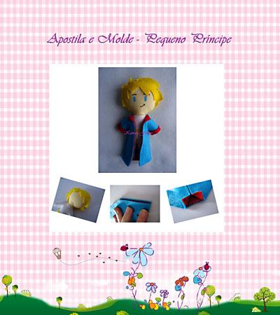Apostilas virtuais de bonecos de feltro no estilo toy-art