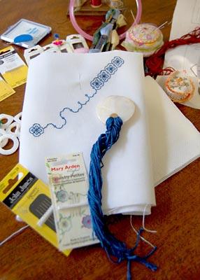 Pontos usados em vários tipos de bordados