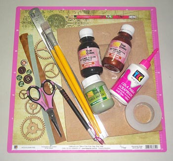 Materiais para o scrap decor no porta-retrato
