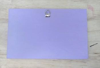 Pinte o verso e as laterais da madeira