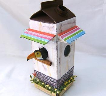 Casa de passarinho reciclada - Crie outros modelos de casinhas