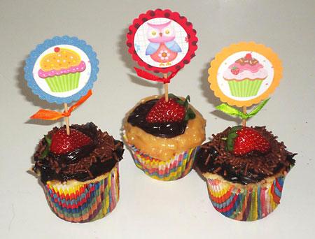 Cupcake toppers para decorar sua festa