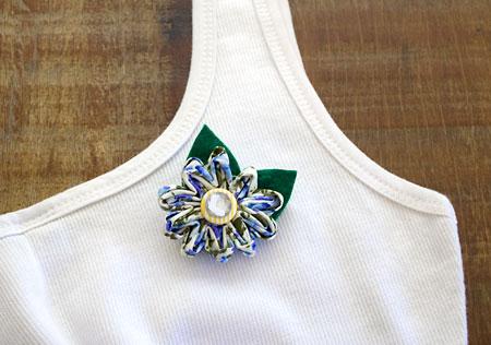 Flor fru-fru de tecido para várias aplicações, dica de artesanato