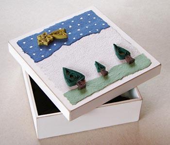 Caixa decorada com quilling