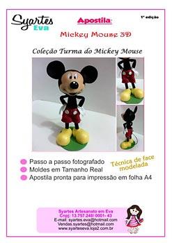 Apostila Mickey Mouse face modelada