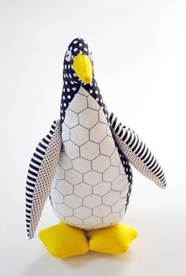 Boneco de tecido pinguim, para meninos ou meninas