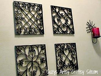 Painéis de parede em falso metal de rolinhos de papel