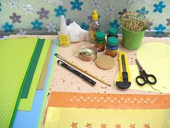 Materiais para fazer o porta-panetone