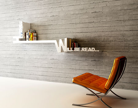 Prateleira para livros com design