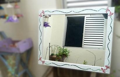 Moldura em mosaico para espelhos e quadros