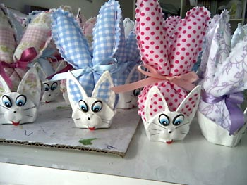 Caixas de ovos como embalagens de páscoa