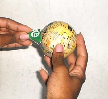 Teste o bico na bola de isopor