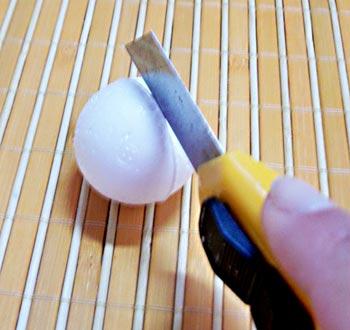 Corte a bolinha ao meio