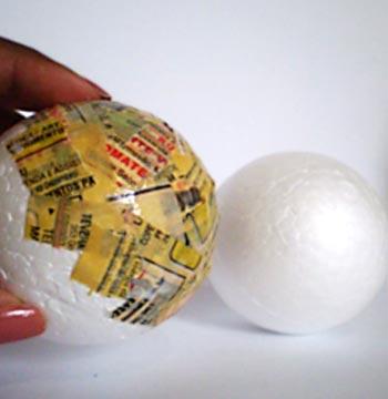 Faça a papietagem na bola