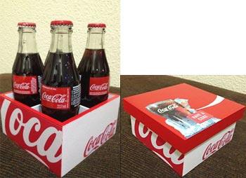 Caixa decorada com temas de bebidas