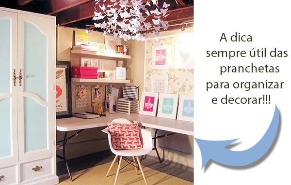 Pranchetas decoradas organizam ideias e recados