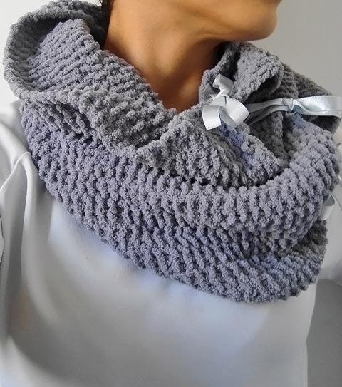 Maxi gola de tricô com laços, como fazer