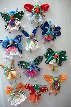 Mini bonecas ímãs de geladeira