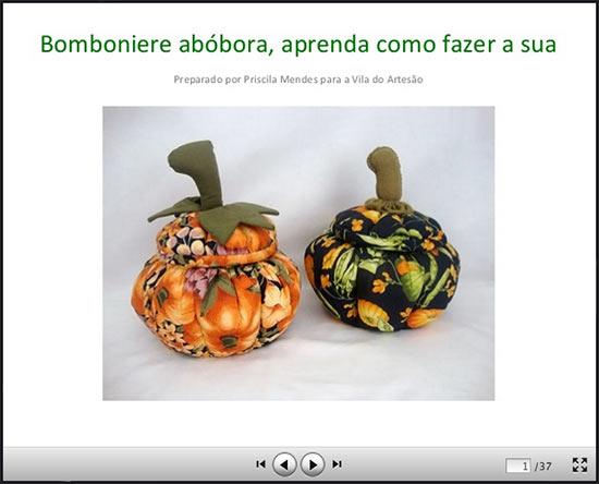 Clique para assistir aos slides da bomboniere abóbora