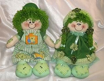 Casal de bonecos de tecido