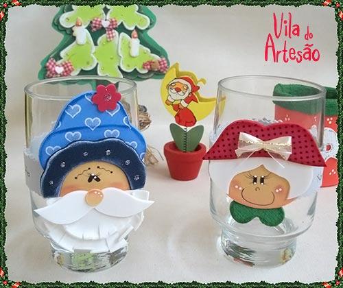 Marcador de copos divertidos para o Natal