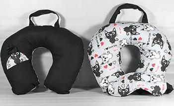 Almofada e máscara para dormir na viagem