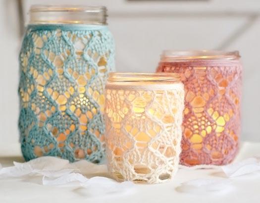 Sugestões fofas de uso para vidros de conserva