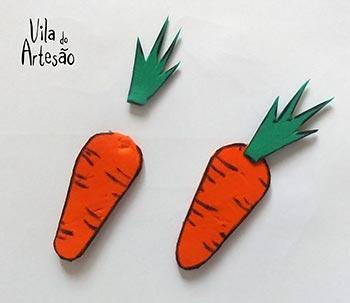 Faça cenouras