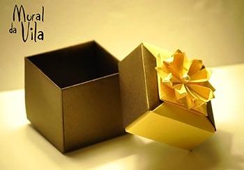 Caixinha de origami para seus chocolates