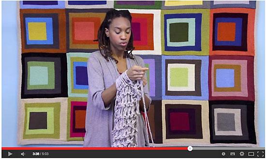 Vídeo aula de tricô de braço Lyon Brand Yarns