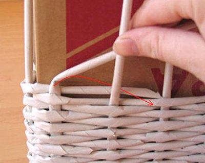 Como trançar uma cesta e finalizar a borda