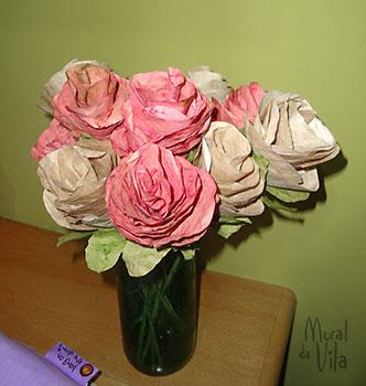 Flores de filtro de café reciclado